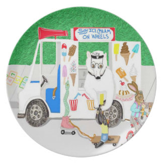 Soy Ice cream On Wheels Dinner Plate