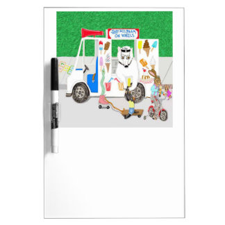 Soy Ice Cream Truck Driver Dry-Erase Whiteboard