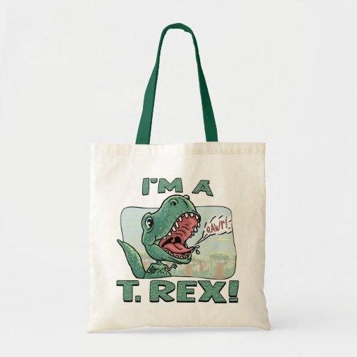 Soy ideas de un regalo de T. Rex Dinosaur Bolsa