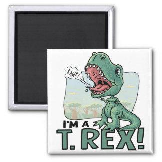 Soy ideas de un regalo de T. Rex Dinosaur Imán Cuadrado