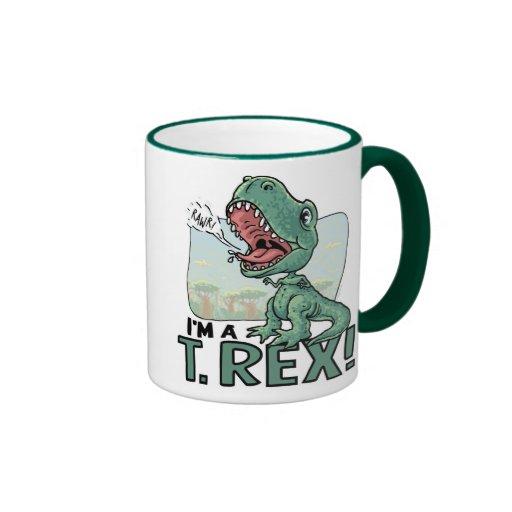 Soy ideas de un regalo de T. Rex Dinosaur Tazas De Café