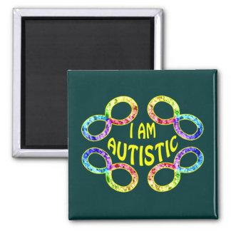 Soy imanes autísticos imán cuadrado