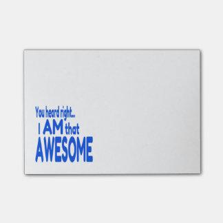 Soy impresionante en azul post-it® notas