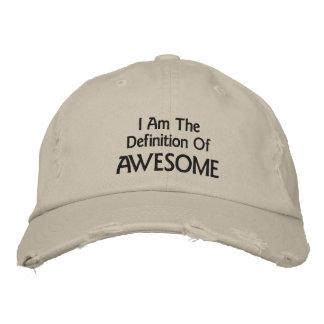 Soy impresionante gorra bordada