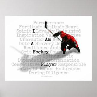 Soy impresiones y posters de un jugador de hockey