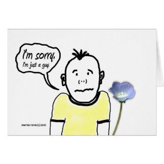 Soy - individuo del dibujo animado - tarjeta trist