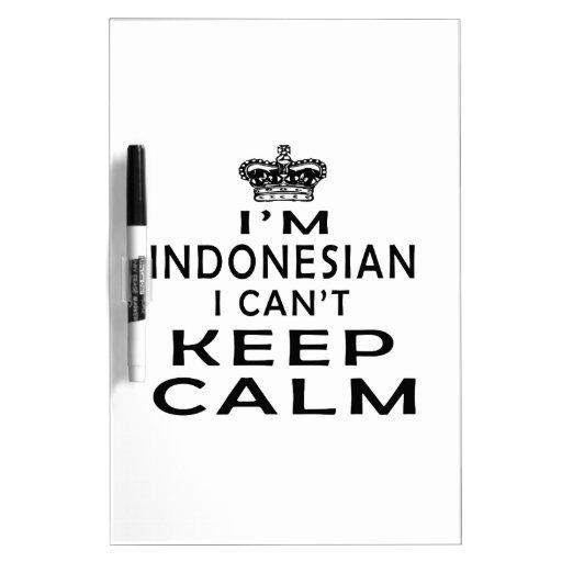 Soy indonesio yo no puedo guardar calma pizarras blancas