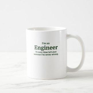 Soy ingeniero para ahorrar tiempo acabo de taza clásica