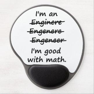 Soy ingeniero que soy bueno en la matemáticas alfombrillas de ratón con gel