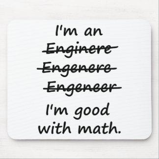 Soy ingeniero que soy bueno en la matemáticas alfombrillas de ratón