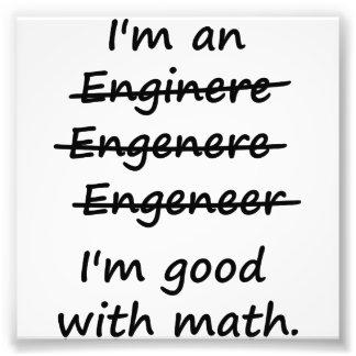 Soy ingeniero que soy bueno en la matemáticas impresion fotografica