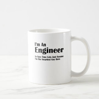 soy ingeniero taza clásica