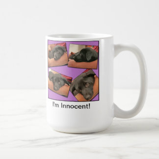 Soy inocente taza básica blanca