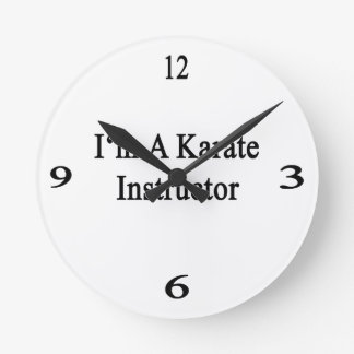 Soy instructor del karate reloj de pared