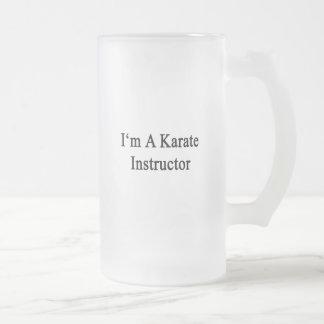 Soy instructor del karate taza cristal mate