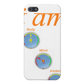 Soy intelecto de la mente del cuerpo iPhone 5 carcasas