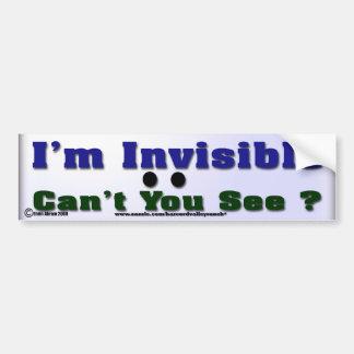 Soy invisible pegatina de parachoque