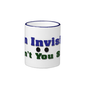 Soy invisible taza de dos colores