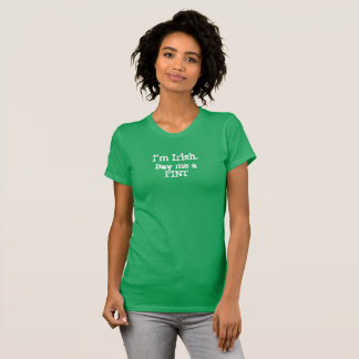 Soy irlandés. Cómpreme una camisa de la pinta