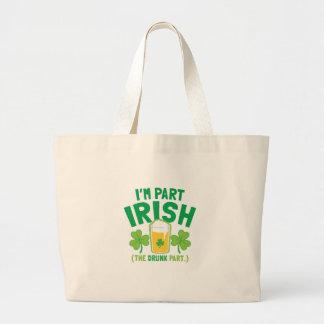 Soy IRLANDÉS de la PARTE (la parte BORRACHA) con l Bolsa Tela Grande