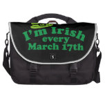 Soy irlandés el cada 17 de marzo bolsas para ordenador
