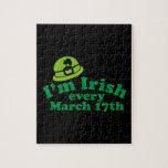 Soy irlandés el cada 17 de marzo puzzle con fotos