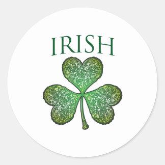 ¡Soy irlandés! El día de St Patrick feliz Pegatina Redonda