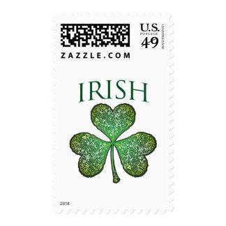 ¡Soy irlandés! El día de St Patrick feliz Sello