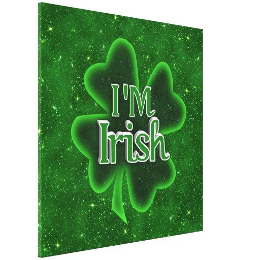 ¡Soy irlandés! Impresión De Lienzo