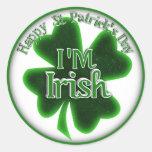 ¡Soy irlandés! Pegatinas Redondas