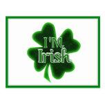 ¡Soy irlandés! Postal