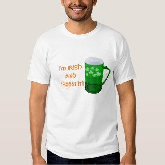 ¡Soy irlandés y lo muestro! La camiseta clásica de Poleras