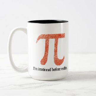 Soy irracional antes de taza del símbolo del café