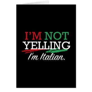 Soy italiano tarjeta de felicitación