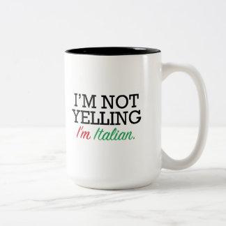 Soy italiano taza de dos tonos