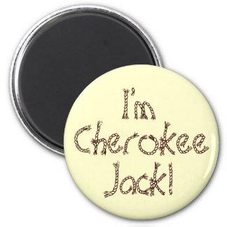 ¡Soy Jack cherokee! Imán Redondo 5 Cm