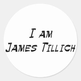 Soy James Tillich Pegatina Redonda