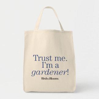 Soy jardinero bolsa tela para la compra