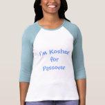 Soy kosher para la camiseta del raglán del