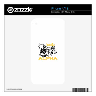 Soy la alfa iPhone 4 skins