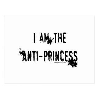 Soy la anti-princesa tarjeta postal