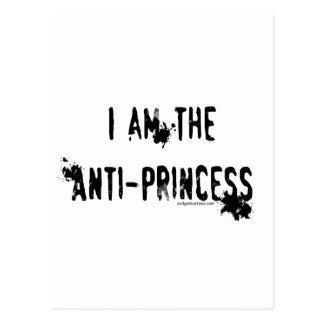 Soy la anti-princesa tarjetas postales