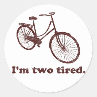 Soy la bicicleta soñolienta demasiado cansada cans etiqueta