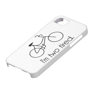 Soy la bicicleta soñolienta demasiado cansada iPhone 5 Case-Mate funda