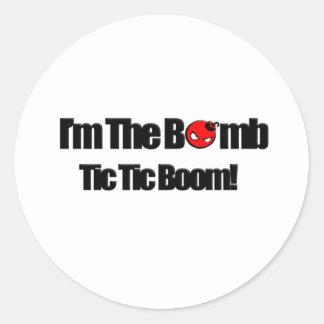 Soy la bomba pegatina redonda