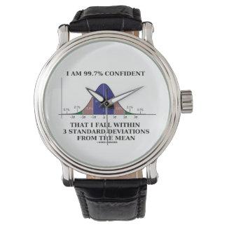 Soy la caída confiada 99,7% dentro de 3 reloj de mano