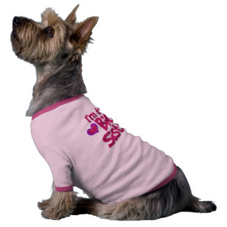 Soy la camisa del perro de la hermana grande camisetas de perro
