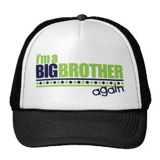 Soy la camiseta azul/verde de hermano mayor otra v gorras