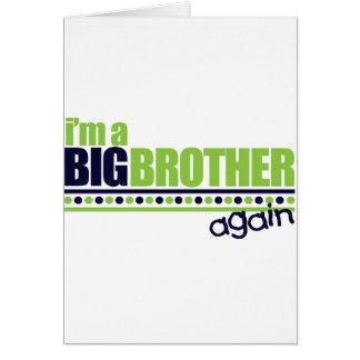 Soy la camiseta azul/verde de hermano mayor otra v felicitación