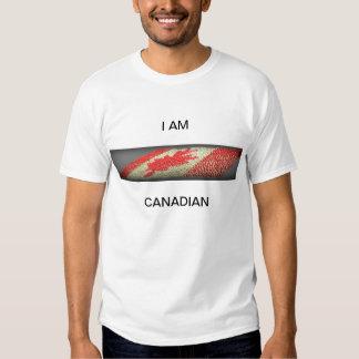 Soy la camiseta básica de los hombres canadienses playera